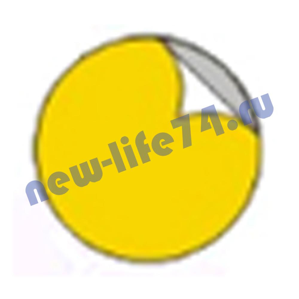 Наклейка желтый круг для слабовидящих