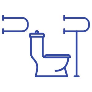 Поручни для инвалидов в туалет, ванну, санузел